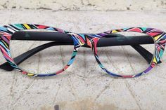 Want a beautiful hand-painted #DIY eyewear like this? Only #Zenka Face&Cie offers blank design-it-yourself modular eyewears. Get them at Greg Bowyer Optometrist!