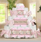 Cowgirl baby shower Diaper Cake.  Visit us at http://www.modern-baby-shower-ideas.com/western-baby-shower.html Use coupon code: Modern11 and save 11%