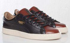 "Puma Basket Classic Luxe ""Camo"" | Black, Brown & Green"
