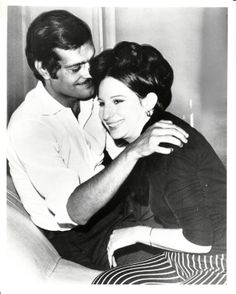 Barbra Streisand  and Omar Sharif during production of FUNNY GIRL