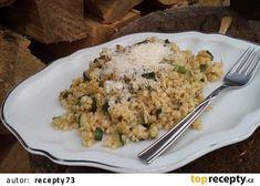 Cuketové těstoviny se sýrem recept - TopRecepty.cz Quinoa, Cauliflower, Vegetables, Fit, Gratin, Shape, Cauliflowers, Vegetable Recipes, Cucumber