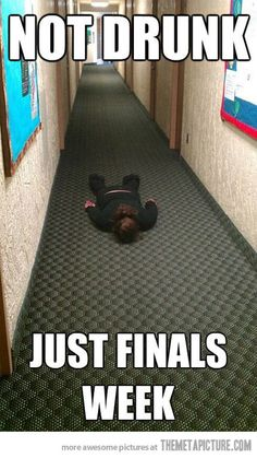 This will be me next week. So if you just see me lying on the floor... you know why.