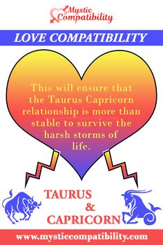 This will ensure that the Taurus Capricorn relationship is more than stable to survive the harsh storms of life. #Taurus #Capricorn #relationship #Love_Compatibility #Zodiac_Signs