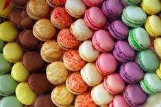 The very thought of macarons makes my stomach growl in protest. For those of you who don't know what macarons are: A macaron is a sweet Fr. Paul Berry, Cookies Receta, Great Recipes, Favorite Recipes, Yummy Recipes, Yummy Food, Recipies, French Macaroons, Pastel Macaroons