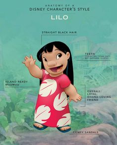 We've broken down the essential elements that make Lilo, Lilo in this edition of Anatomy of a Disney Character's Style.