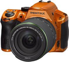 Pentax K-30 16 MP CMOS Digital SLR 18-135 WR Lens Kit Crystal Orange