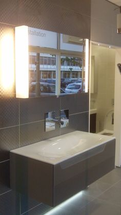 keuco vanity unit display at aquarooms httpaquaroomsme - Bathroom Cabinets Keuco