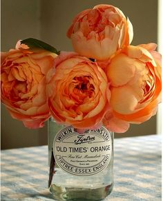 Orange peonies; great for a fall wedding
