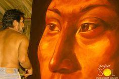 www.project-sol.com Caribbean Art, Portrait, Tattoos, Painting, Tatuajes, Headshot Photography, Tattoo, Painting Art, Portrait Paintings