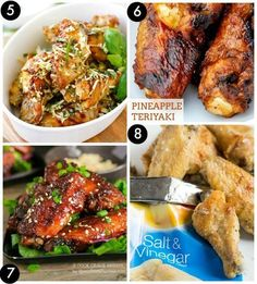 Baked Parmesan Garlic Chicken Wings, Pineapple Teriyaki, Baked Sticky ...
