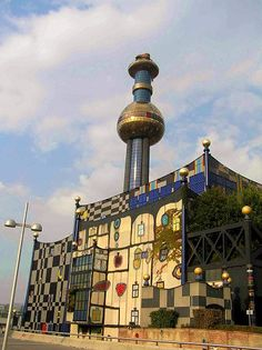 Waste Incineration Plant in Spittelau (Vienna/ Austria) - Yes, really. Hundertwasser design of course :)