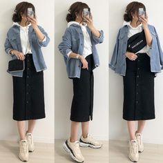 Korean Casual Outfits, Korean Outfit Street Styles, Korean Street Fashion, Cute Casual Outfits, Chic Outfits, Dress Casual, Korean Fashion Trends, Asian Fashion, Japanese Fashion