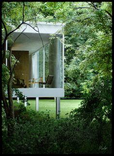 Mies van der Rohe Farnsworth House by Alessandro Prodan | 3D | CGSociety