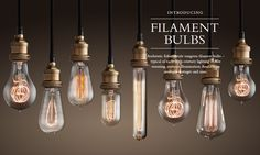 love bulbs like this... @Tiffany Smith - this is what i had in mind to hang from the ceiling.