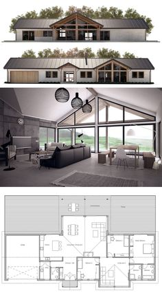 Container House - Like the layout. Seems good use of space and two living areas. House Plan - Who Else Wants Simple Step-By-Step Plans To Design And Build A Container Home From Scratch? Barn House Plans, New House Plans, Dream House Plans, Modern House Plans, Small House Plans, House Floor Plans, Pole Barn Homes Plans, Floor Plans 2 Story, Modular Home Plans