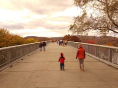 A beautiful walkway connection Highland to Poughkeepsie.