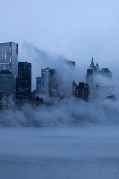 NYC. Clouds at ground level // By Ludovic Bertron