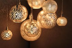 Plafondlamp - Oosters - Filigrain - Zilver - Medium - Zenza - Lampen van LiL.nl