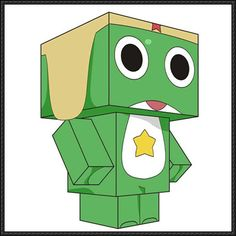 Cube Craft Free Paper Download - sgt frog keroro