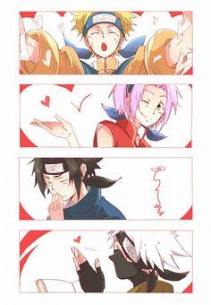 ナルト サクラ サスケ カカシ|卡卡西小隊愛你呦~|Team 7 loves you ♥ Naruto Sakura Sasuke Kakashi