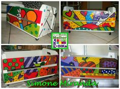 Arte da Simone com releituras de Romero Brito