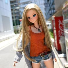 The popular Knit Camisole - Smokey Plum and Rusty Orange is now available on the Smart Doll online store - made in Toyama Japan. The wig that Moment has is called Parting Long Platinum Blonde and should be out sometime next month. #tokyo #smartdoll #anime #manga #doll #bjd #fashion #3dprinting #fashiondoll #dollphoto #dollphotography #dollphotographer #dollfashion #bjdphotography #japan Long Platinum Blonde, Toyama, Smart Doll, Ever After, Fashion Dolls, American Girl, Wigs, Punk, Princess Zelda