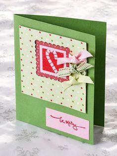 Handmade Christmas Cards Using Scrapbooking Supplies