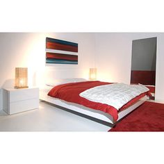 Found it at www.dcgstores.com - ♥ ♥ Float Queen Platform Bed in High Gloss White ♥ ♥