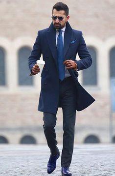 a583dd16 Da clic para ver todas los outfits de zapatos azules de hombre Como  Combinar Zapatos Azules