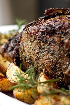 Herb Crusted Prime Rib #food by kendra