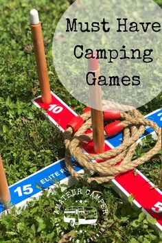 The best games to take on a camping trip should not only be fun but easy to pack. Fun Outdoor Games, Outdoor Fun For Kids, Outdoor Gifts, Outdoor Camping, Outdoor Travel, Outdoor Activities, Camping Set Up, Camping Needs, Camping Games