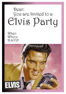 1950s elvis presley birthday digital printable invitation free elvis party invitations all free invitations filmwisefo