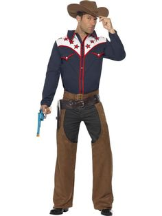 2020 Men's Rodeo Cowboy Costume Outfit Adult Fancy Dress Party Outfit and more Cowboy Costumes for Men, Men's Halloween Costumes for