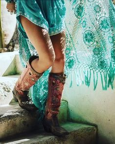 Beautiful Turquoise Boho - The latest in Bohemian Fashion! These literally go viral!