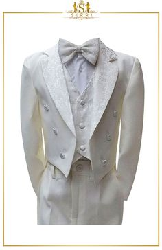 When it comes to boys tuxedo suits, Sirri has it covered. Our boys tail suits are made with comfort in mind. Made from premium fabric, the boys' morning suit is a refined look for any formal occasion. Shop now at SIRRI kids #childrens suits #boys 3 piece suit #kids wedding suits #boys communion suits