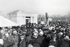 March 6,   1933: CHICAGO MAYOR ANTON CERMAK DIES  -    Chicago Mayor Anton J. Cermak, wounded the month before in an attempt on Franklin D. Roosevelt's life, dies at a Miami hospital. Cermak was mortally wounded after the assassin, Giuseppe Zangara, missed his aim and hit Cermak instead. (Above) The casket of Cermak being carried to the family vault in the Bohemian National Cemetery, Chicago.