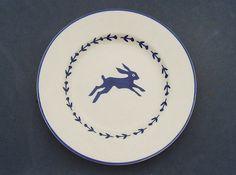 "Emma Bridgewater blue HARE plate (8.5"") by Mark Hearld"