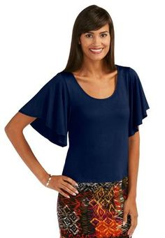 Cato Fashions Plus Size Angel Sleeve Lace Top Cato Fashions Angel Sleeve