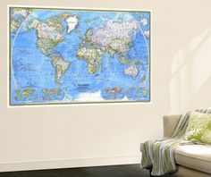 World political map pinterest stretched canvas prints canvases world political map pinterest stretched canvas prints canvases and bedrooms gumiabroncs Choice Image