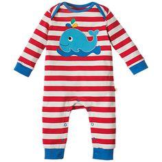 fb049256aadac Buy Frugi Organic Baby Charlie Whale Romper