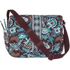 Vera Bradley Messenger Bag Java Blue Laptop Bookbag Nwotags