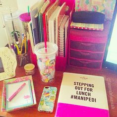 Cute desk! Love the Kate spade!