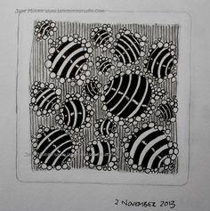 Meteors tangle pattern