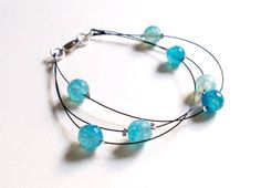 Drops of blue bracelet by clode83 on Etsy, €12,00