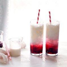 Sour Cherry Italian Cream Sodas