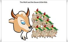 WOLF AND THE SEVEN LITTLE GOATS BEDTIME STORIES All Disney Princesses, English Story, Ova, Bedtime Stories, Stories For Kids, Aladdin, Crow, Bowser, Goats