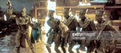Imhotep, left, commands a quartet of soldier mummies in 'The Mummy Returns.'