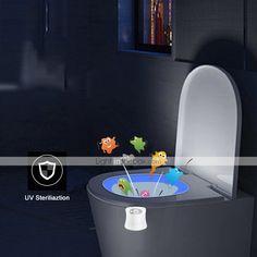 BRELONG 1 pc 8-color Human Motion Sensor PIR Toilet Night Light 2020 - US $6.49 Toilet Bowl Light, Novelty Lighting, Lighting Online, Washroom, Child Safety, Night Light, Color Change, Bathroom Lighting, Bathtub