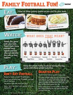Turn football season into Family Football Fun Season!  Try these ideas for eating, watching, and playing to make every game a winner. #footballfun #printable #familyfun