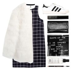 """""""Untitled #2817"""" by tacoxcat ❤ liked on Polyvore featuring Olive + Oak, Stine Goya, Status Anxiety, Lord & Berry, adidas Originals, Balmain and Anastasia Beverly Hills"""